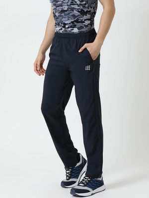 Rock.it Navy Blue Solid Track Pants