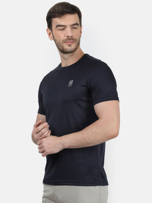 Navy Plain Round Neck Tshirt