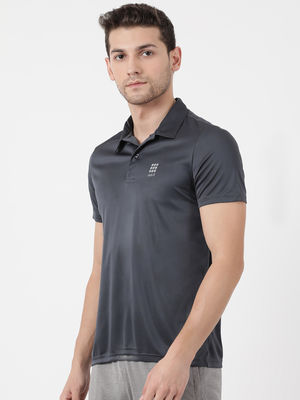 Graphite Plain Collar Tshirt