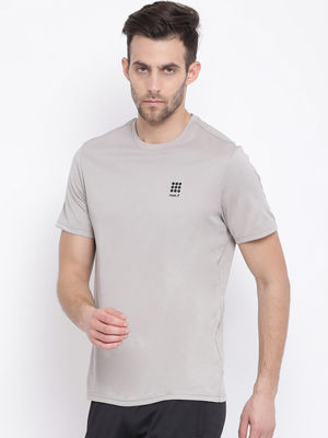 Grey Mel. Plain Round Neck Tshirt