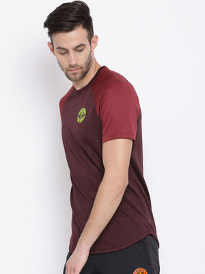 Wine Plain Round Neck Tshirt