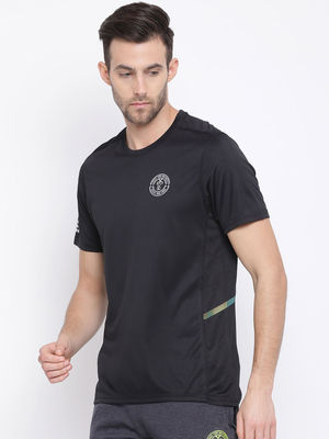 Black Plain Round Neck Tshirt