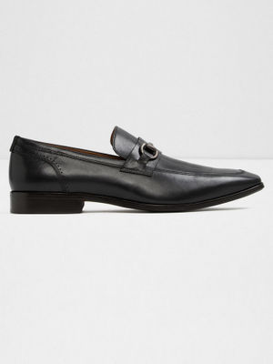 BLACK FORMAL SLIP-ONS