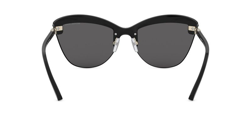 Dark Grey Solid Sunglasses