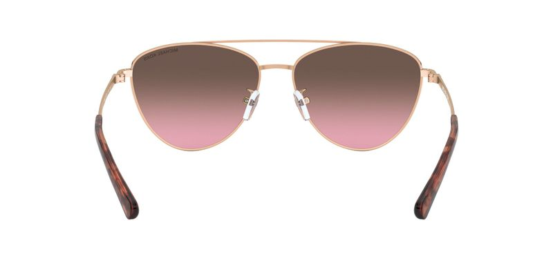 Black Magenta Gradient Mirror Sunglasses