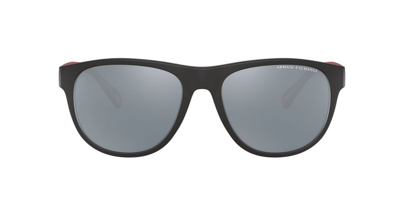 Dark Grey Mirror Silver Polarized Sunglasses