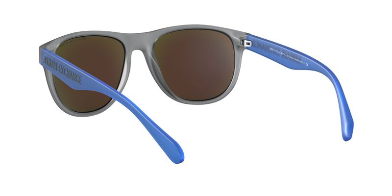 Green Mirror Light Blue Sunglasses