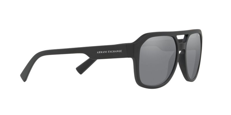Light Grey Mirror Black Sunglasses