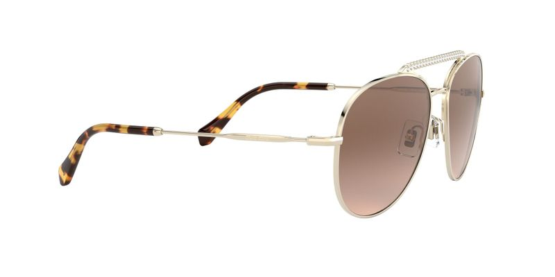 Gradient Brown Mirror Silver Sunglasses