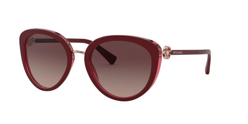 Brown Gradient Black Sunglasses