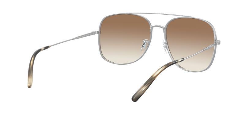 Soft Tan Gradient Mirror Sunglasses