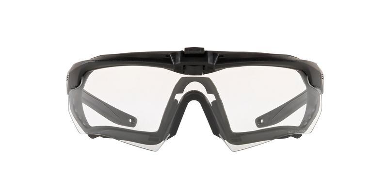 Crossbow Matte Black Clear Sunglasses