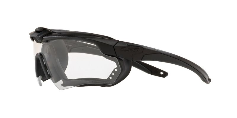 Crossbow Matte Black Clear Sunglasses