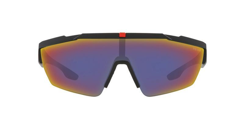 Dark Grey Mirror Blue/Red Sunglasses