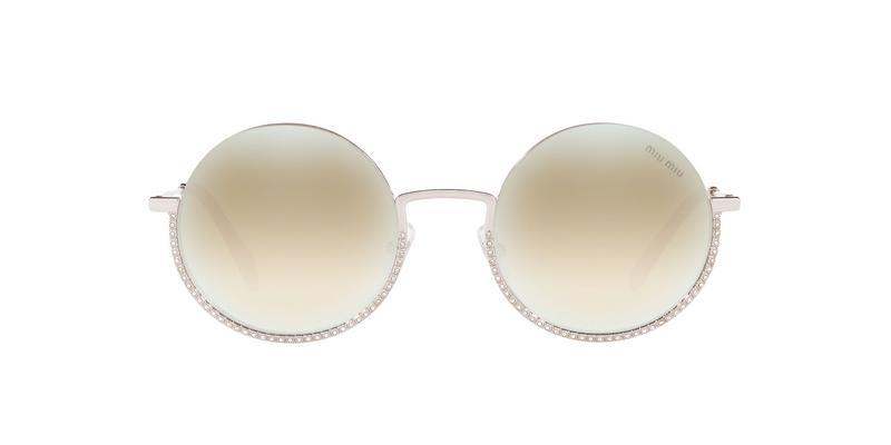 Light Brown Mirror White Sunglasses