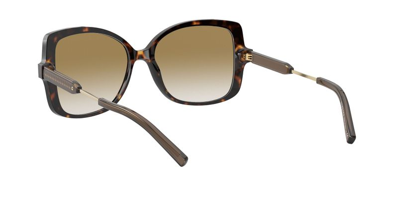 Clear Gradient Brown Mirror Gold Sunglasses