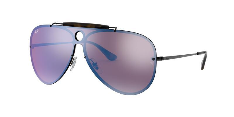 Dark Violet Mirror Blue Sunglasses