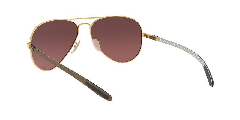 Purple Mir Gold Gradient Polar Sunglasses
