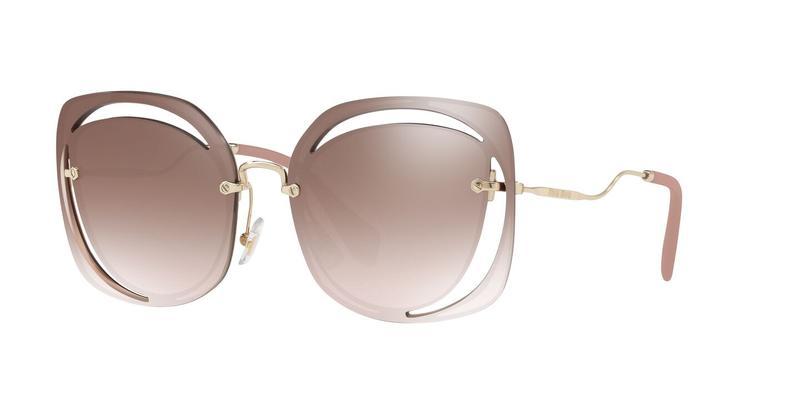 Gradient Brown Mirror Silver Sunglasses