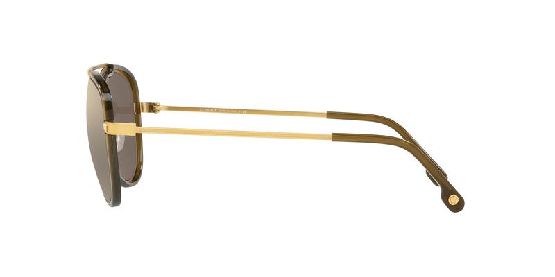 Light Brown Mirror Gold Sunglasses