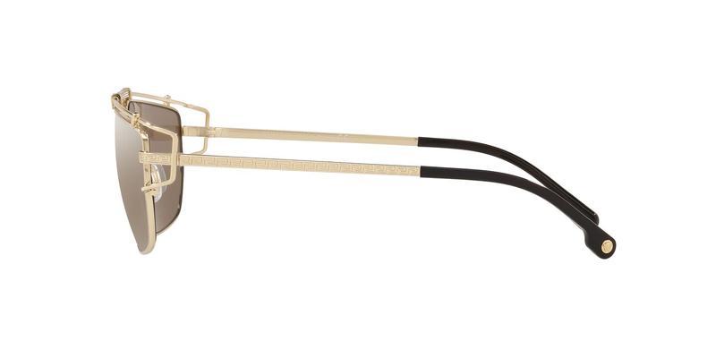 Light Brown Mirror Dark Gold Sunglasses