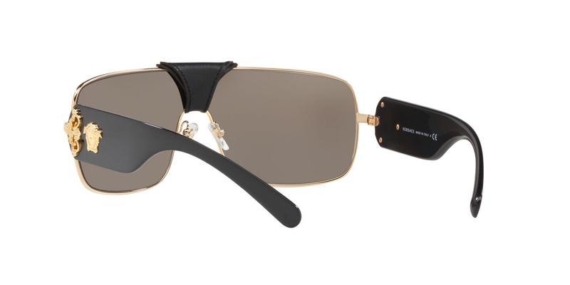Light Brown Mirror Gold Sunglasses