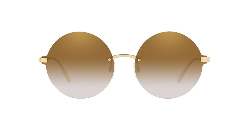 Grad Light Brown Mirror Gold Sunglasses