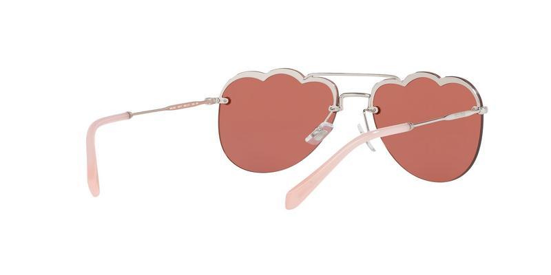 Pink Mirror Flash Silver Sunglasses