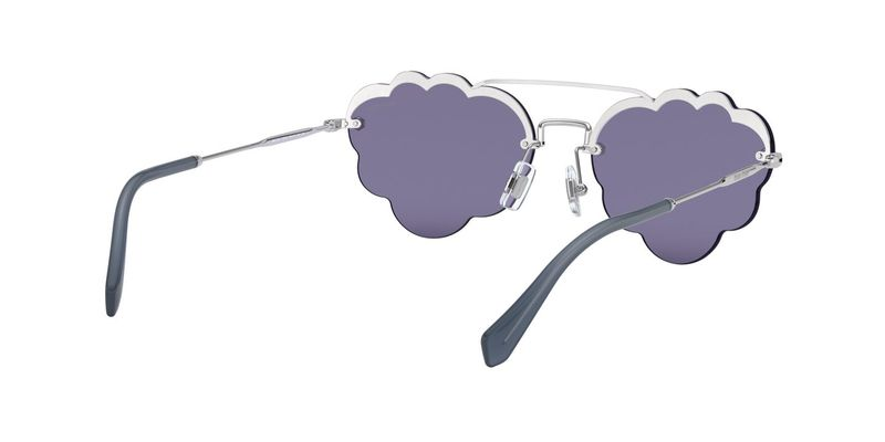 Dark Blu/Violet Mirror Silver Sunglasses