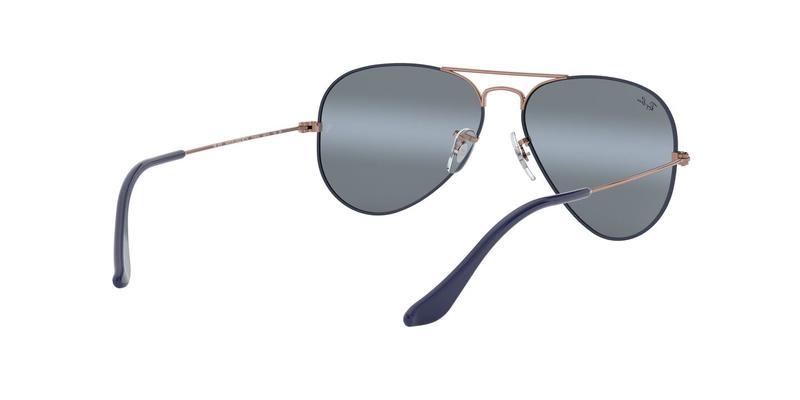 Blue Bi-Mirror Grey Sunglasses