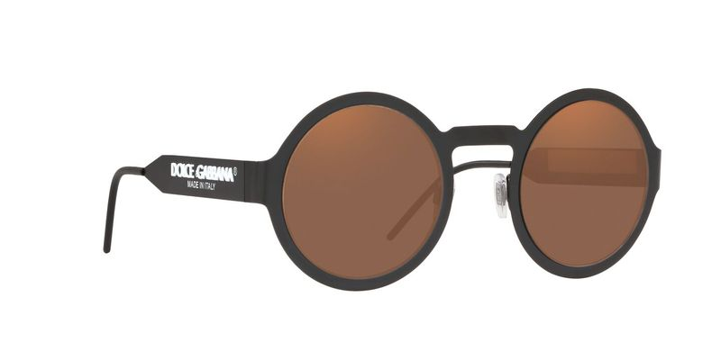 Brown Orange Metallic Sunglasses