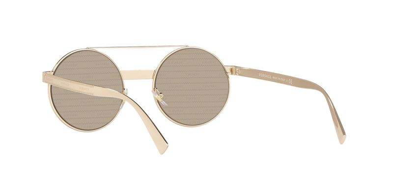 Brown Tamp Silver Gold Sunglasses