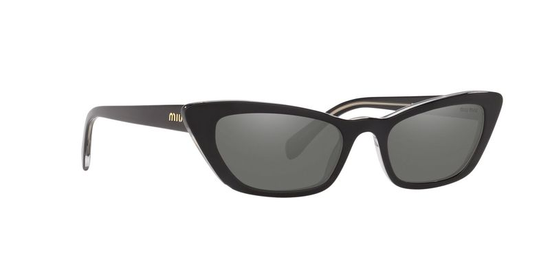 Dark Grey Flash Silver Sunglasses