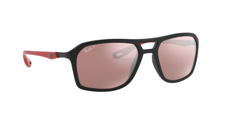 Purple Mirror Silver Polarized Sunglasses