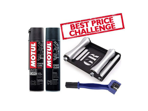 GRoller Large with Chain Clean Brush and Motul C1 C2 400 ml