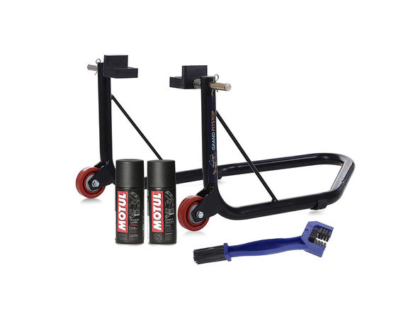 Paddock Non Dismantlable Black with Motul C1 C2 150 ml and Brush