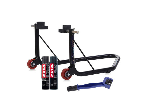 Paddock Non Dismantlable Black with Motul C1 C2 400 ml and Brush