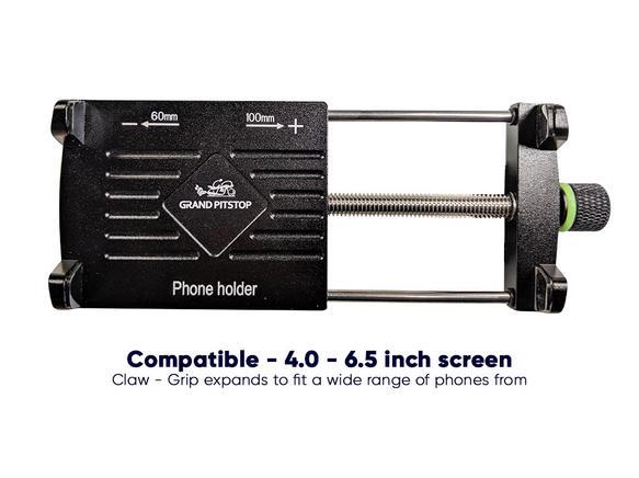 GrandPitstop Claw-Grip Mobile Holder Mount - Black