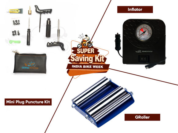 Groller Small, Puncture & inflator Combo