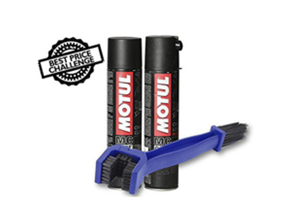 Chain Cleaning Brush with Motul Chain Clean and Lube 400 ml