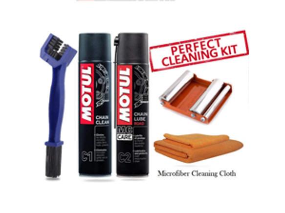 GRoller medium with Chain Clean Brush, Motul C1 C2 400 ml and Microfiber Cloth