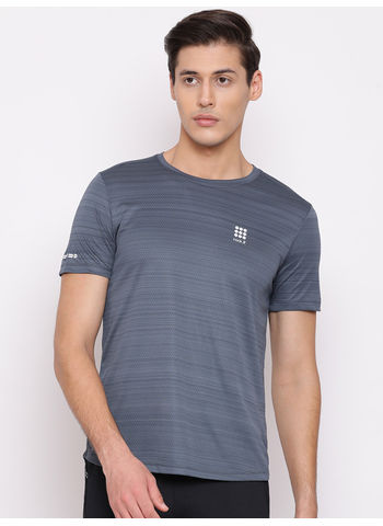 Rockit Lt. Green Round Neck Regular Fit T-Shirt