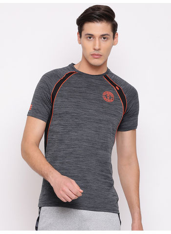 Rockit D.Grey Round Neck Regular Fit T-Shirt