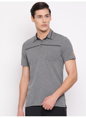 Rockit Grey Collar Regular Fit T-Shirt