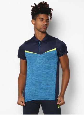 Rockit Blue Navy Collar Smart Fit T-Shirt