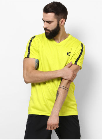 Rockit Yellow V Neck Regular Fit T-Shirt