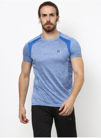 Rockit Blue Round Neck Smart Fit T-Shirt