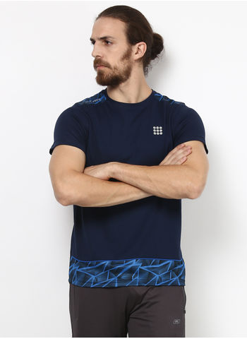 Rockit Navy Round Neck Smart Fit T-Shirt