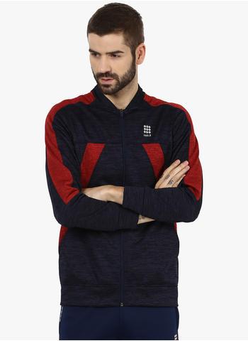 Rockit Navy Red Grindle Collar Smart Fit Sweatshirt