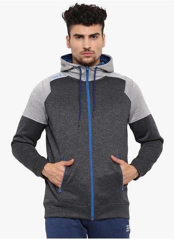 Rockit Black Hooded Smart Fit Sweatshirt